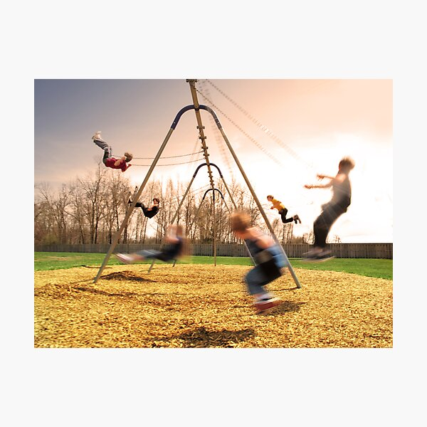 On the Swings Photographic Print