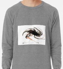 Expressive Ballerina Dance Drawing Lightweight Sweatshirt