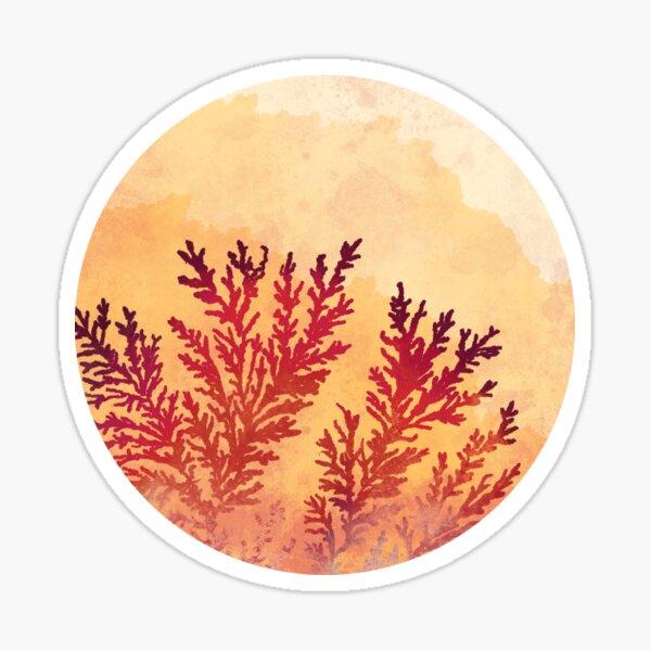 Manganese Dendrites On Fire Sticker