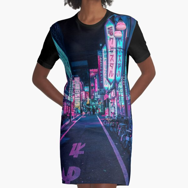 Tokyo - A Neon Wonderland  Graphic T-Shirt Dress