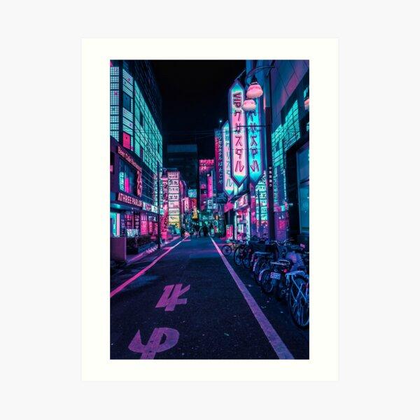 Tokio - Ein Neonwunderland Kunstdruck