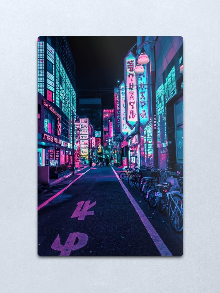 Alternate view of Tokyo - A Neon Wonderland  Metal Print