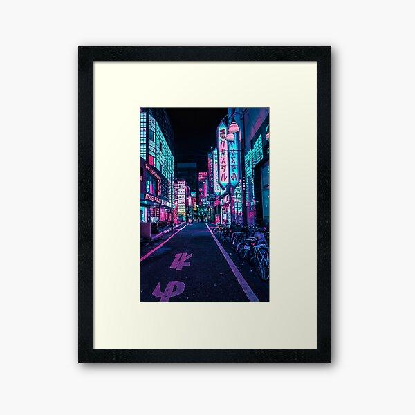Tokyo - A Neon Wonderland  Framed Art Print