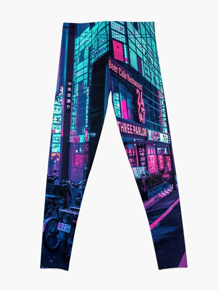 Alternate view of Tokyo - A Neon Wonderland Leggings