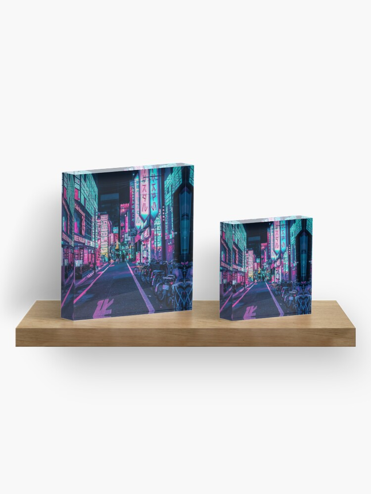 Alternate view of Tokyo - A Neon Wonderland  Acrylic Block
