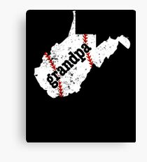 Grandpa Baseball Tee West Virginia Softball Grandpa Shirt Canvas Print