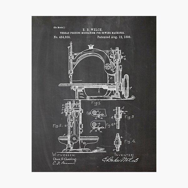 Sewing machine patent Photographic Print