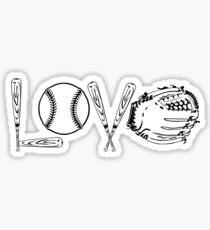 BASEBALL SOFTBALL LOVE SHIRT COFFEE MUG AND STICKERS Sticker