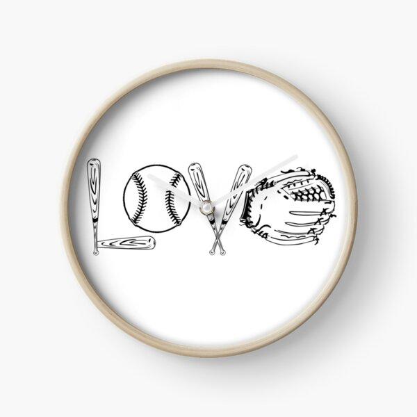 BASEBALL SOFTBALL LOVE SHIRT COFFEE MUG AND STICKERS Clock