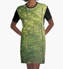 Peaceful Woodland Landscape Photo 3 Graphic T-Shirt Dress