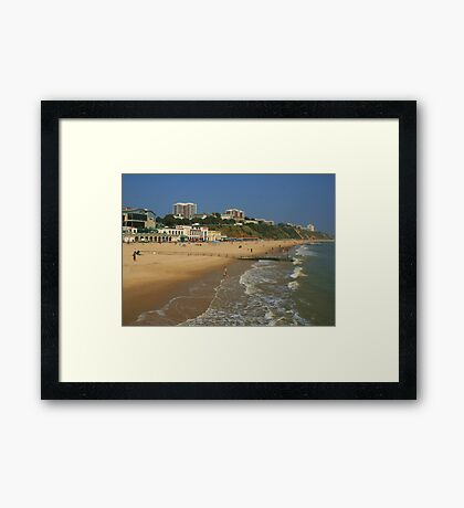 Bournemouth Beach And East Cliff Framed Print