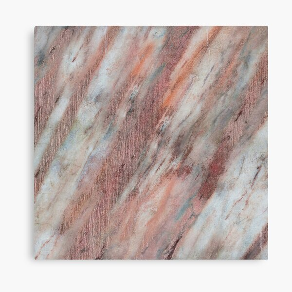 Rose copper marble Canvas Print