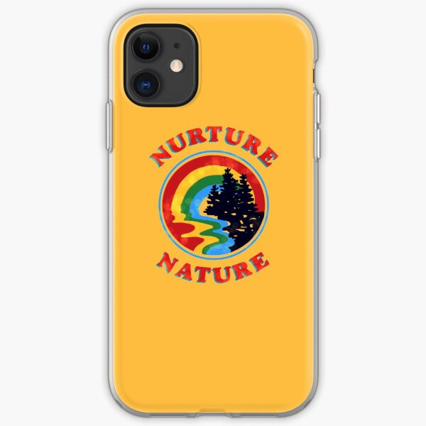 nurture nature vintage environmentalist design iPhone Soft Case