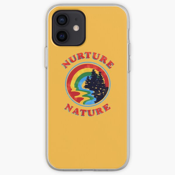 nurture nature vintage environmentalist design iPhone Soft Case
