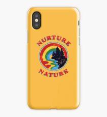 Nurture Nature Vintage Environmentalist Design iPhone Case