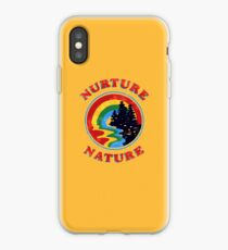 Nurture Nature Vintage Environmentalist Design iPhone Case