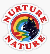 Nurture Nature Vintage Environmentalist Design Sticker