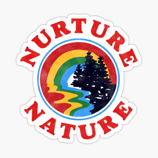 nurture nature vintage environmentalist design Sticker
