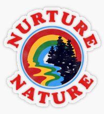 Pegatina transparente Nurture Nature Vintage Environmentalist Design