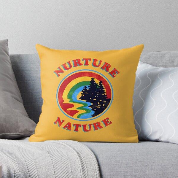 nurture nature vintage environmentalist design Throw Pillow
