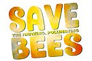 Save the Amazing Pollinating Bees in Watercolor by jitterfly