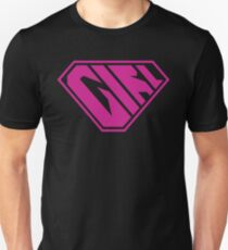 Girl SuperEmpowered (Pink) Slim Fit T-Shirt