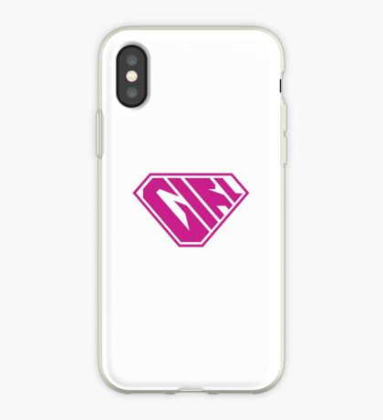 Girl SuperEmpowered (Pink) iPhone Case