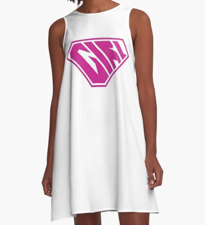 Girl SuperEmpowered (Pink) A-Line Dress