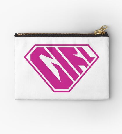 Girl SuperEmpowered (Pink) Zipper Pouch