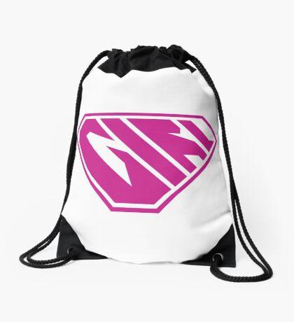 Girl SuperEmpowered (Pink) Drawstring Bag