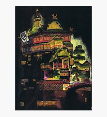 Spirited Away - Bath House at Night Photographic Print