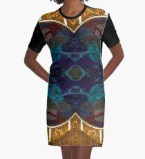 Golden kiss Graphic T-Shirt Dress