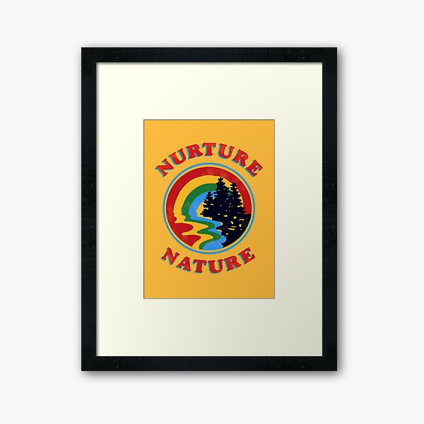 nurture nature vintage environmentalist design Framed Art Print