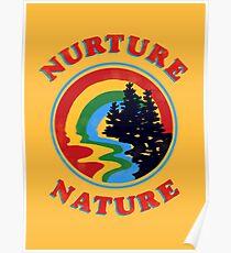 Póster Nurture Nature Vintage Environmentalist Design