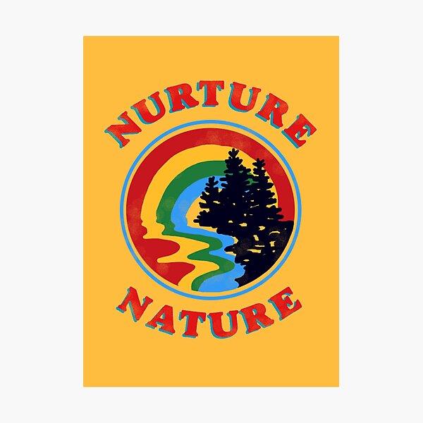 nurture nature vintage environmentalist design Photographic Print