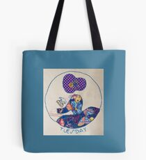 Tuesday Ironing Butterfly Bonnet Lady Tote Bag