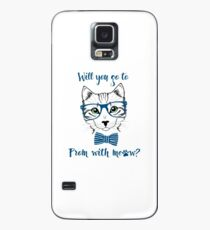 Funny Promposal shirt MEOW! Case/Skin for Samsung Galaxy