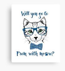 Funny Promposal shirt MEOW! Canvas Print