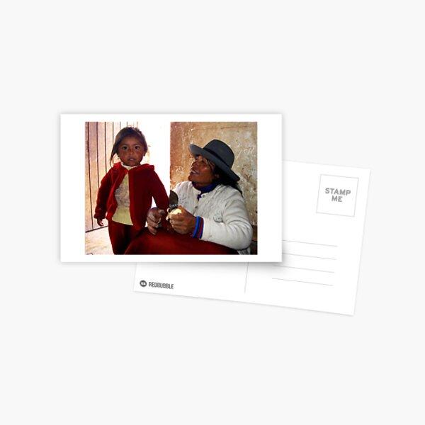 love in Peruvian orphanage Postcard