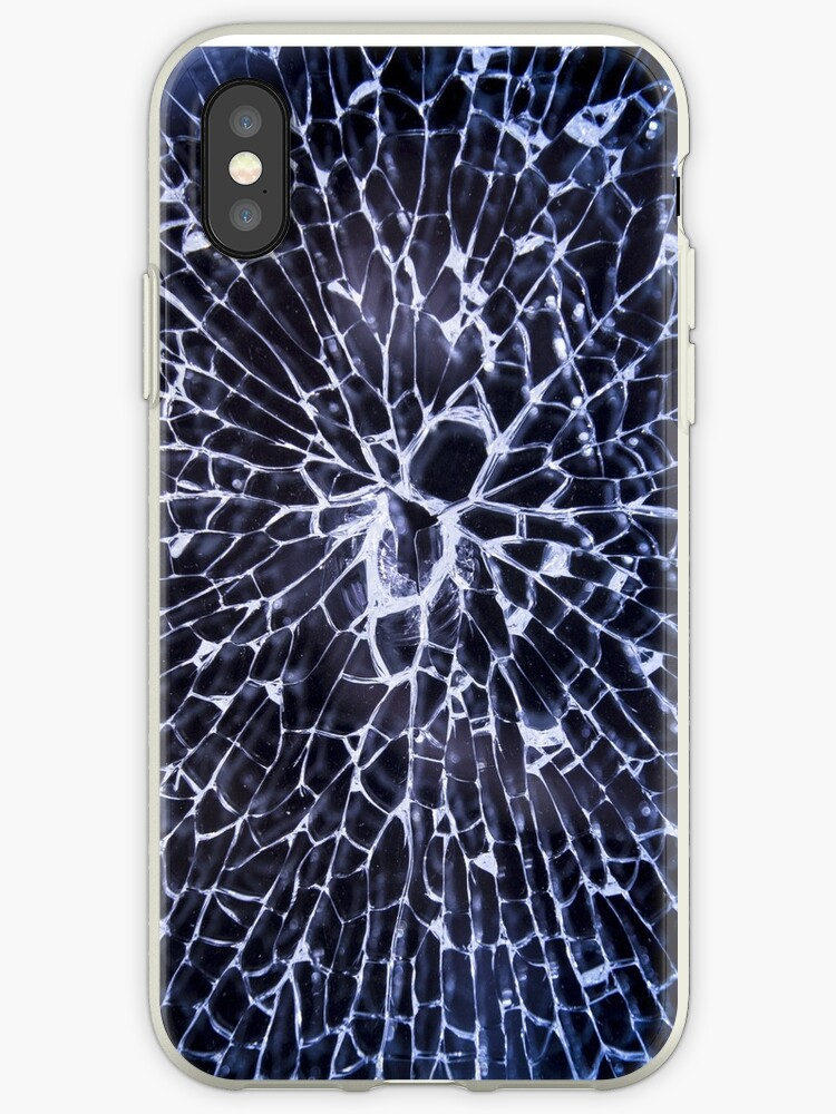 timeless design 670d8 17c90 'Broken Glass Cell Phone Screen Texture Shattered Cracked' iPhone Case by  ericthemagenta