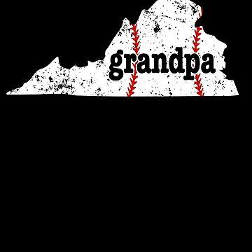 Grandpa Baseball Tee Virginia Softball Grandpa Shirt by shoppzee