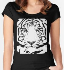 Wild Tiger Animal Protection Cool Vintage Retro Women's Fitted Scoop T-Shirt