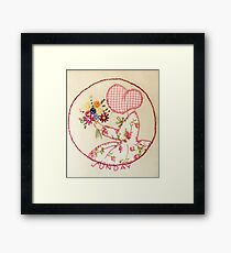 Sunny Sunday Bouqet Of Flowers  Bonnet Lady Framed Print
