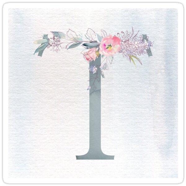 Floral Letter T | Monogram | Gift Ideas