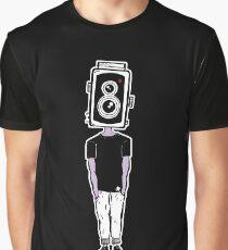 Camera Head - Black Graphic T-Shirt