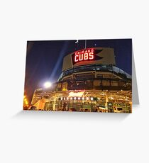 Wrigley Field at night Greeting Card