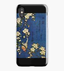 Bullfinch and Drooping Cherry by Katsushika Hokusai (Reproduction) iPhone Case
