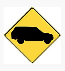 SUV sign Photographic Print