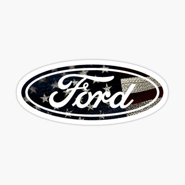 USA Ford Logo Sticker