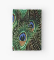 PEACOCK FEATHERS Pop Art Hardcover Journal